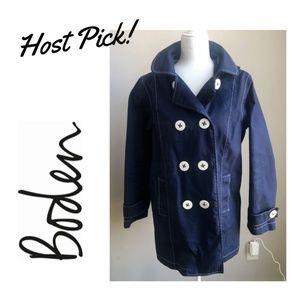 HP SALE! Boden Navy White Stitch Hooded Jacket 10